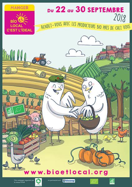 Affiche Manger Bio et Local 2018