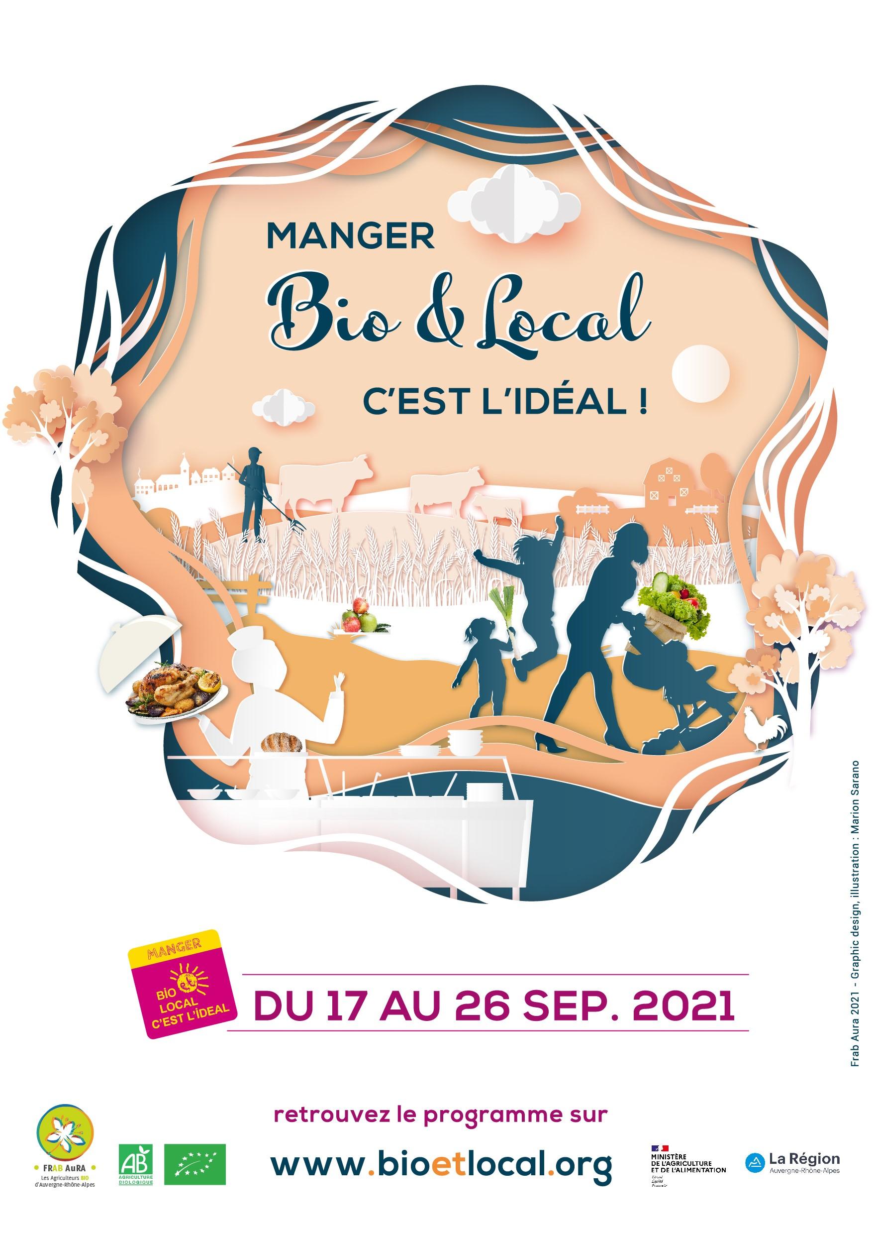 Affiche Manger Bio et Local 2021